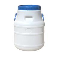 Бочка (бидон) пищевая 30 л белая ф-21 см , 327х420, К