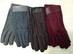 Тёплые чудесные женские перчатки с красивой вязкой