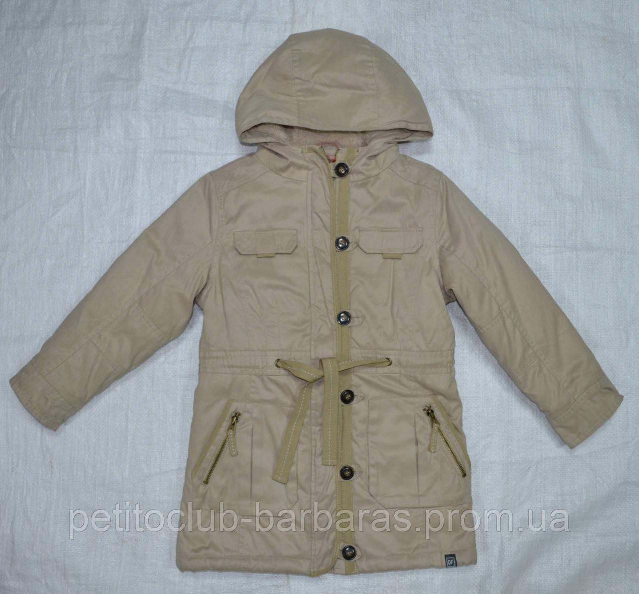 Куртка-парка еврозима для девочки Marta бежевая (QuadriFoglio, Польша)