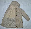 Куртка-парка еврозима для девочки Marta бежевая (QuadriFoglio, Польша), фото 7