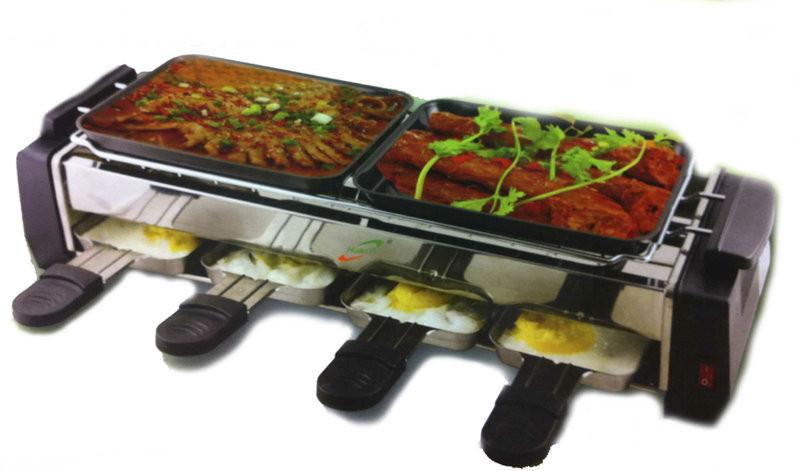 Электрический гриль ― барбекю Huanyi (двойной)