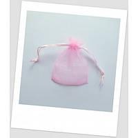 Мешочек из органзы ювелирный 7х 9 см, цвет розовый. (id:700035)