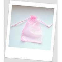 Мешочек из органзы, 18 см х 13 см, розовый. (id:700039)