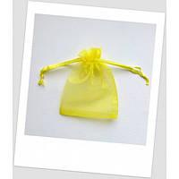 Мешочек из органзы ювелирный 7х 9 см ярко-желтый. (id:700054)