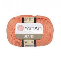 Хлопковая пряжа YarnArt Jeans 23 персик (ЯрнАрт Джинс)