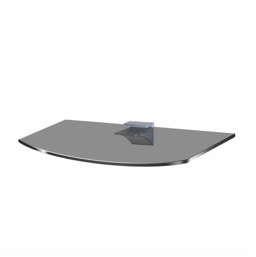 Полиця із скла Gamma PL 2RG (240x350x6)