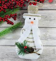 Снеговик подвесной 20 см