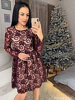 Платье из сетки с напылением из бархата 73PL2216, фото 1