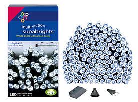 Новогодняя гирлянда 500 LED, IP44, Длина 38 М, Белый холодный свет