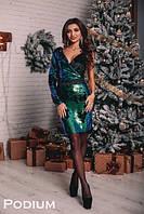 Платье облегающее с сеткой и пайеткой 22PL2235, фото 1