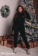 Утепленный женский спорт костюм с капюшоном 22SP542, фото 1