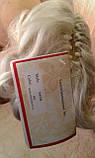 Хвост короткий кучерявый на крабе серебрито-седой 945В-60, фото 6