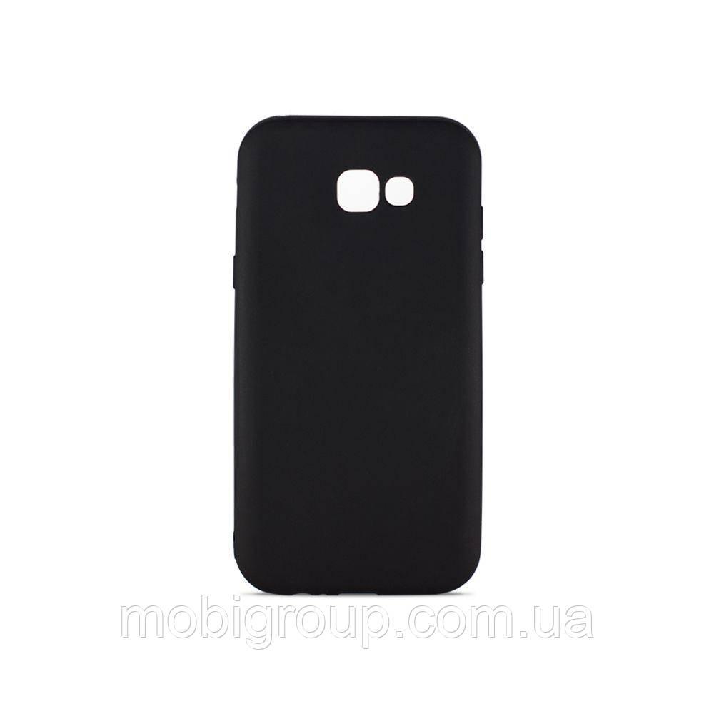 Матовый силиконовый чехол Samsung A520 (2017), Black