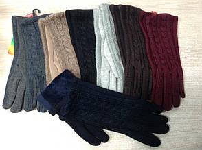Тёплые зимние женские перчатки с красивой вязкой