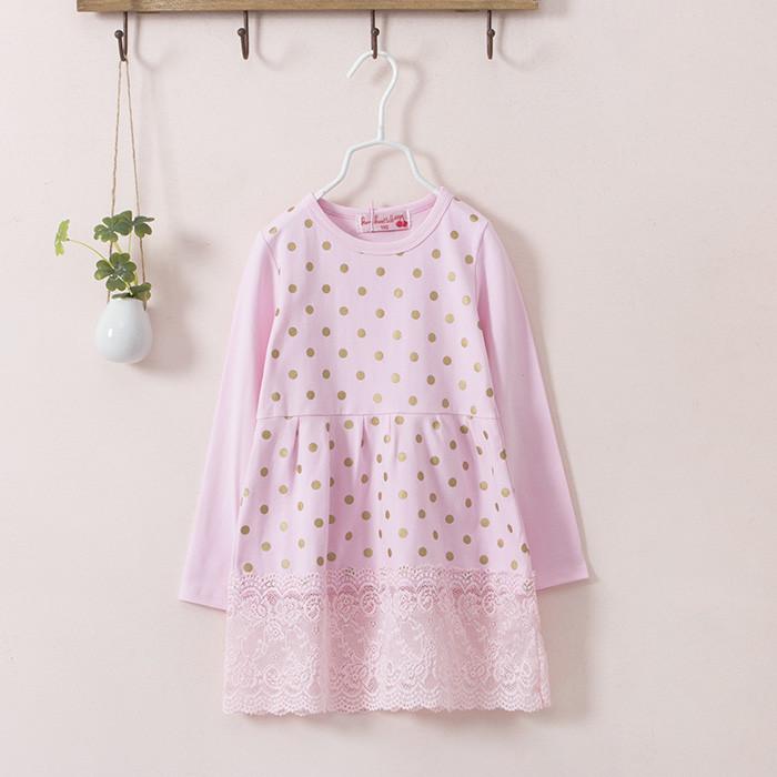Платье с кружевом (роз) 120,130