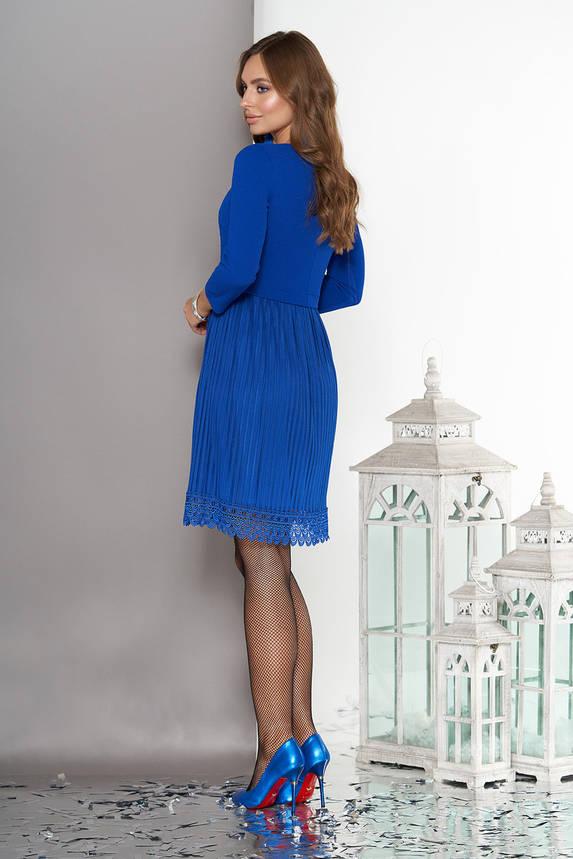 Нарядное женское платье миди электрик, фото 2