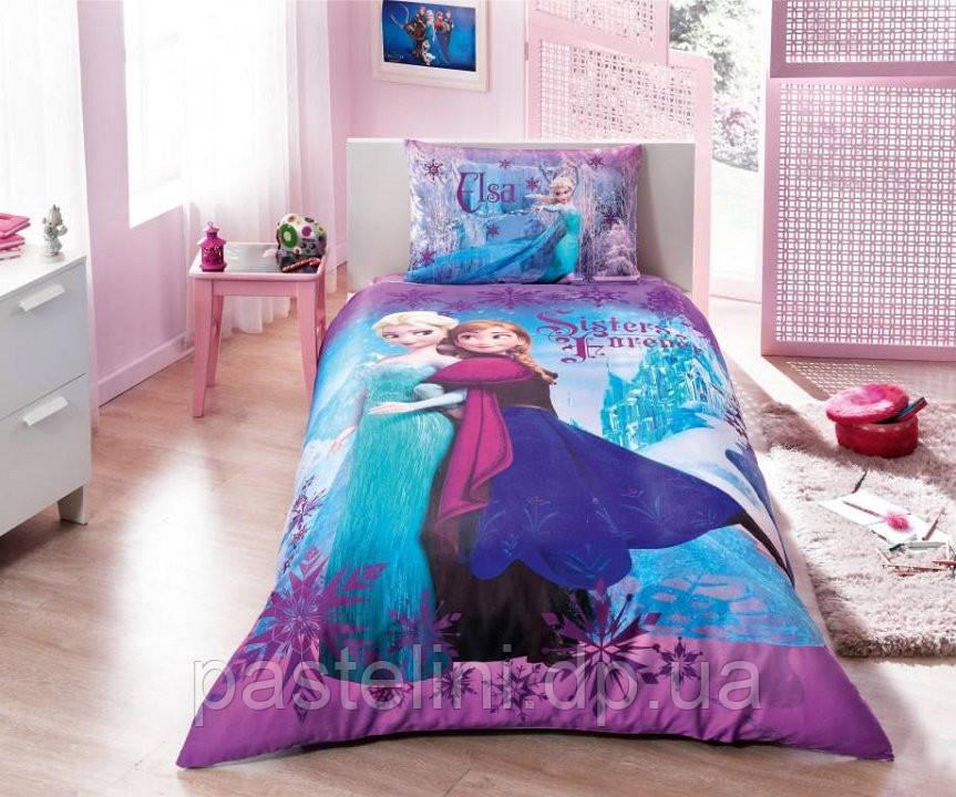 Детское постельное TAC Disney Frozen ( Фрозен) простынь без резинке