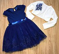 Платье на девочку с болеро нарядное 4-6 лет , фото 1
