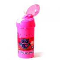"""Бутылка для воды с трубочкой 550мл """"Kidis The owl world"""" №13007"""
