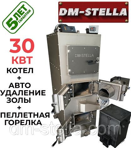 Пеллетный твердотопливный котел с автоудалением золы 30 кВт DM-STELLA, фото 2