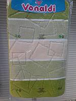 Коврик для ванной и туалета зеленая полоска , фото 1