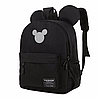 Рюкзак женский с ушками Микки Маус большой Черный
