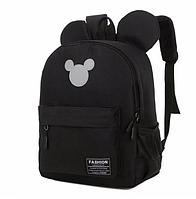 Рюкзак женский с ушками Микки Маус большой Черный, фото 1