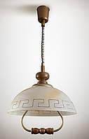 Люстра деревянная, подвес, на кухню 107