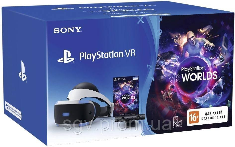 Шлем виртуальной реальности PlayStation VR (Bundle) + PS Camera + VR Worlds