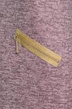 Пряме плаття з рожевого меланжу з золотими блискавками , тепле плаття ніжно-рожевого кольору блискавка на спинці, фото 3