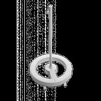 Штатив для лампи-лупи круглий білий 5B з гвинтом