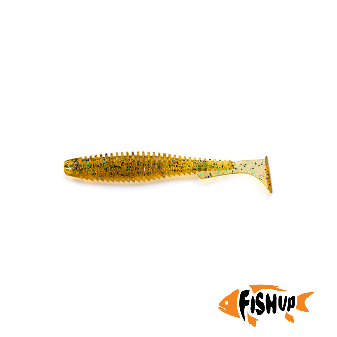 "U-Shad 4"" (8шт), #036 - Caramel/Green & Black"