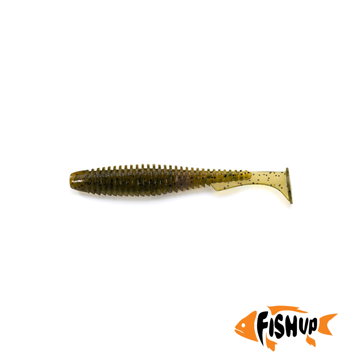 "U-Shad 4"" (8шт), #074 - Green Pumpkin Seed"