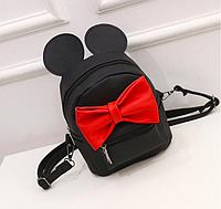 Рюкзак женский трансформер мини сумка Mikki с ушками Черный