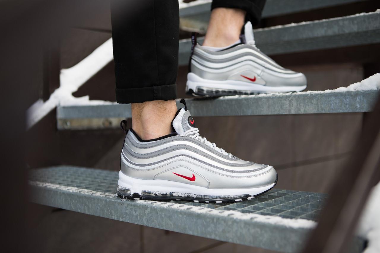 Кроссовки на Меху Мужские Nike Air Max 97 Серые Топ Реплика — в ... 5a27dc61914