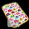 Греющая эко пеленка с подогревом теплая детская греющий коврик матрас в коляску конверт санки 4544 Желтый