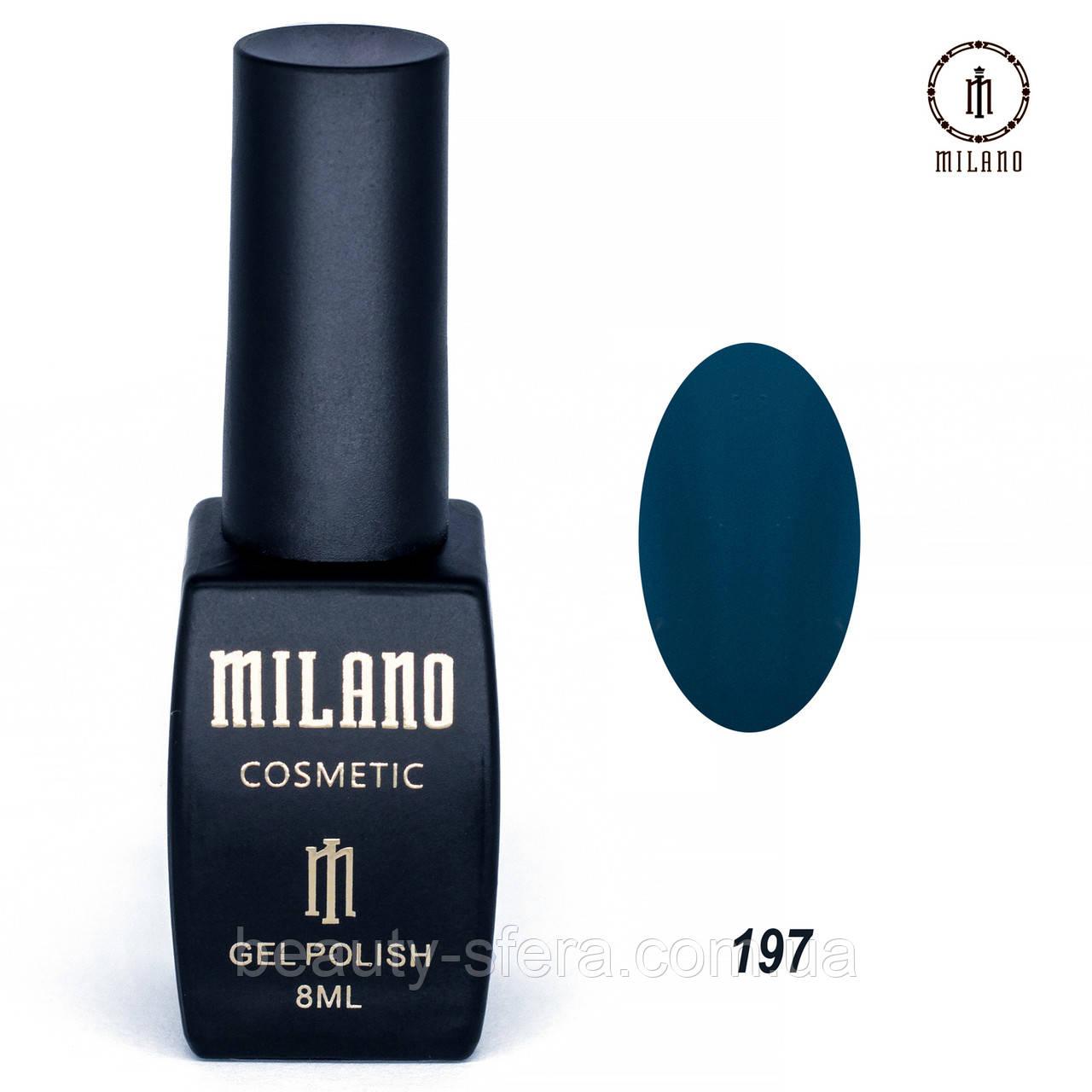 Гель-лак Milano 8 мл. №197⭐⭐⭐⭐⭐