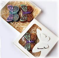 Подарок к Новому году БАБОЧКИ набор мыла ручной работы , фото 1