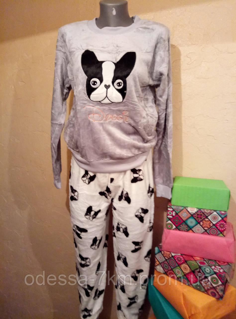 Женская качественная плюшевая пижама - Одежда для всей семьи оптом в Одессе 371921d8c694b