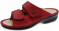 OrtoMed 3701 Красные, Липучка - Женские ортопедические босоножки для проблемных ног