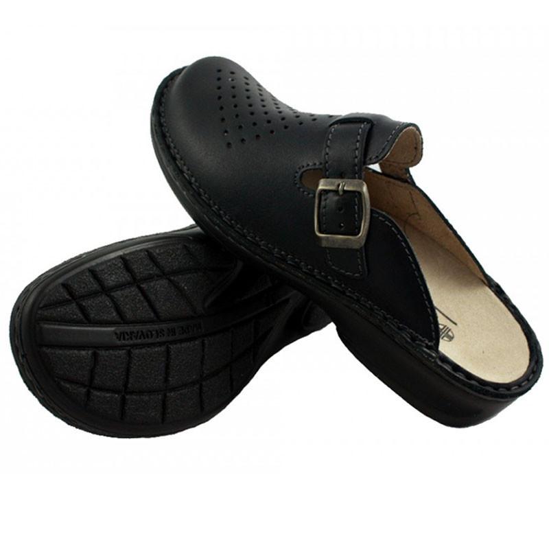 OrtoMed 3710 Черные, Пряжка - Женские ортопедические  тапочки для проблемных ног