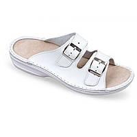 OrtoMed 3716 Белые, Пряжка - Женские ортопедические босоножки для проблемных ног
