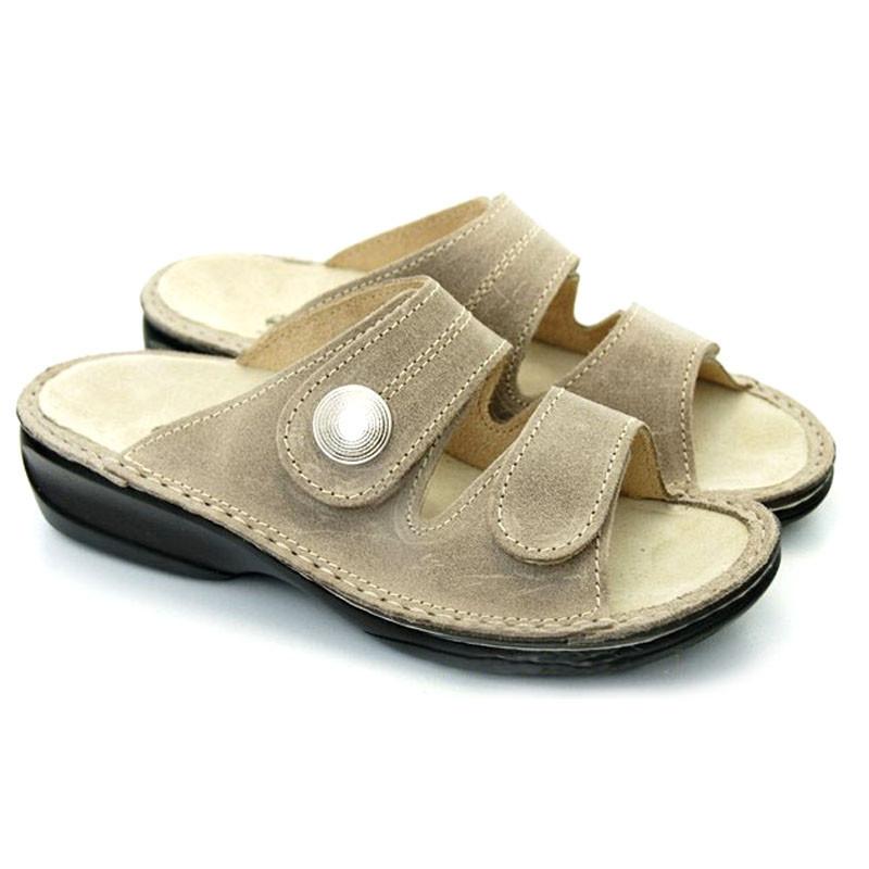 OrtoMed 3721 Бежеві, Липучки - Жіночі ортопедичні босоніжки для проблемних ніг