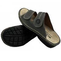 OrtoMed 3721 Серые, Липучка - Женские ортопедические босоножки для проблемных ног