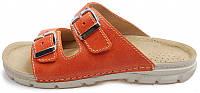 OrtoMed 3026 Оранжевые, Пряжка - Женские ортопедические босоножки для проблемных ног