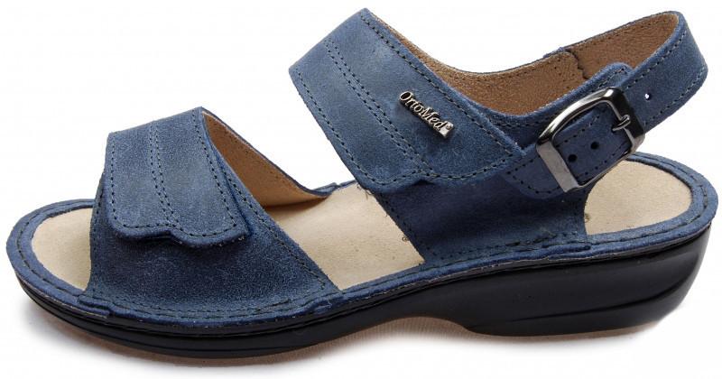 OrtoMed 3728 Синие - Женские ортопедические сандалии для проблемных ног