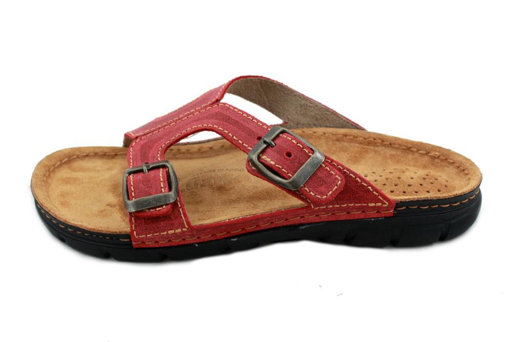 OrtoMed 3024 Красные, Пряжка - Женские ортопедические босоножки для проблемных ног