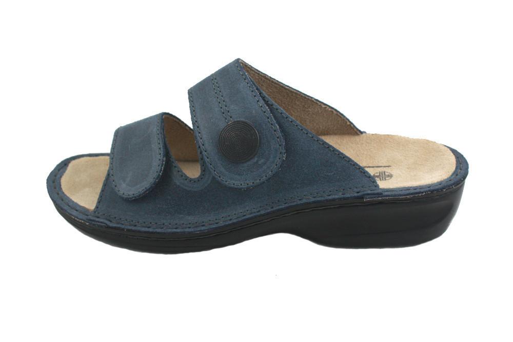 OrtoMed 3721 Синие, Липучки - Женские ортопедические босоножки для проблемных ног