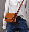 Сумка женская клатч через плечо Jessica Светло коричневый, фото 2