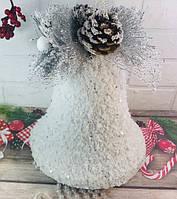 Новогодний колокол с бусинками 50 см